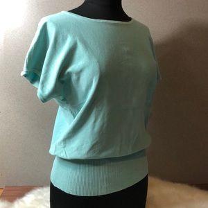 CABLE & GAUGE Silk Blend Sky Blue Short Sleeve Tee